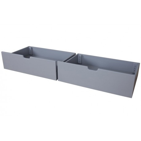 2 GREY UNDER BED DRAWERS FOR MAX & LILY BEDS