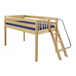 RIGHT / TWIN SIZE LOW LOFT BED WITH LADDER