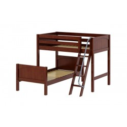 MASH  / L SHAPE / TWIN OVER TWIN BUNK BED WITH LADDER