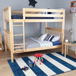 SOLID WOOD Full OVER FULL BUNK BED IN NATURAL FINISH