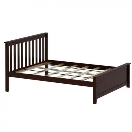 SOLID WOOD FULL SIZE PLATFORM BED IN ESPRESSO FINISH