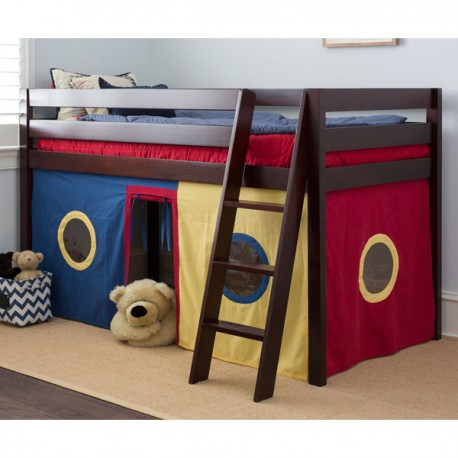 STRAIGHT29 PLAYHOUSE / TWIN LOFT BED IN CHESTNUT