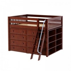 KONG1 / MID LOFT BED W/STORAGE / DOUBLE