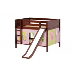 ROCK25 / DOUBLE OVER DOUBLE BUNK BED  W/ LADDER - SLIDE & TENT