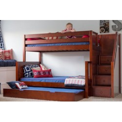 SUMO / TWIN OVER DOUBLE BUNK BED WITH STAIRCASE