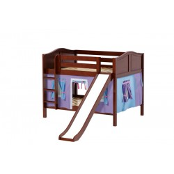 ROCK27 / DOUBLE OVER DOUBLE BUNK BED  W/ LADDER - SLIDE & TENT
