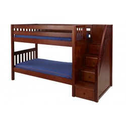 STACKER  / TWIN OVER TWIN BUNK BED WITH STAIRS