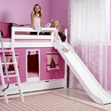 BUNK BED W/SLIDE & CURTAINS