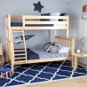 SOLID WOOD TWIN OVER FULL BUNK BED IN NATURAL FINISH