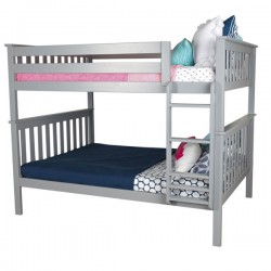 SOLID WOOD FULL OVER FULL BUNK BED IN GREY FINISH