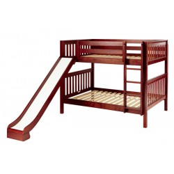HIPHIP / MEDIUM HEIGHT MAXTRIX FULL OVER FULL BUNK BED WITH SLIDE
