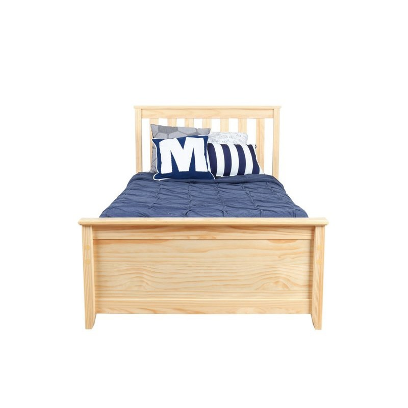 Max Amp Lily Natural Twin Platform Bed Trundle Solid