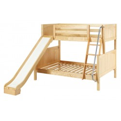 SLICK / MEDIUM HEIGHT MAXTRIX TWIN OVER FULL BUNK BED WITH SLIDE