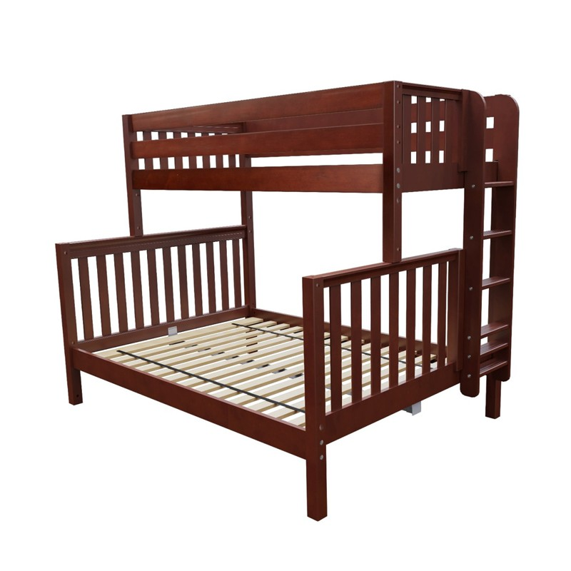 Plush Twin Xl Over Queen Maxtrix Bunk Bed Ladder Solid Maple