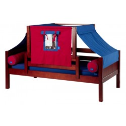 YO21 / TWIN DAYBED WITH BACK & FRONT GUARD RAIL & TOP TENT