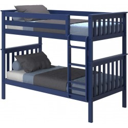 SOLID WOOD TWIN OVER TWIN BUNK BED IN NATURAL FINISH