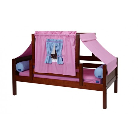 YO28 / TWIN DAYBED WITH BACK & FRONT GUARD RAIL & TOP TENT