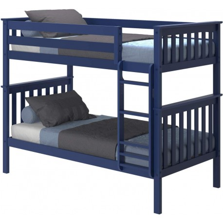SOLID WOOD TWIN OVER TWIN BUNK BED IN GIRL WITH TRUNDLE BED