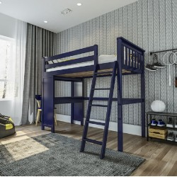 CANTERBURY / TWIN LOFT BED WITH DESK BLUE