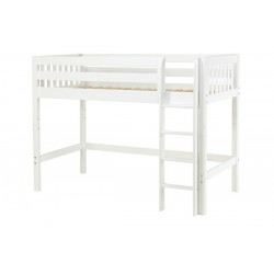 CHIP  / TWIN SIZE MID LOFT BED WITH STRAIGHT LADDER