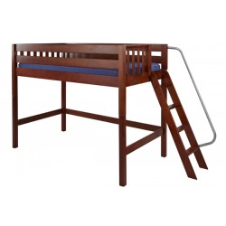 PACK / TWIN SIZE MID LOFT BED WITH ANGLE LADDER