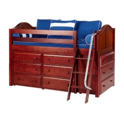 KICKS / LOW LOFT BED WITH STORAGE / TWIN
