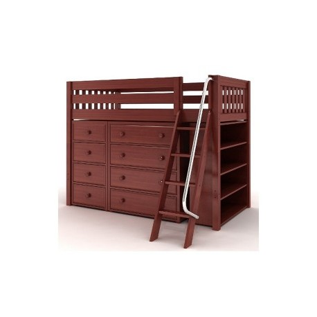 KATCHING2 / MID LOFT BED WITH STORAGE / TWIN