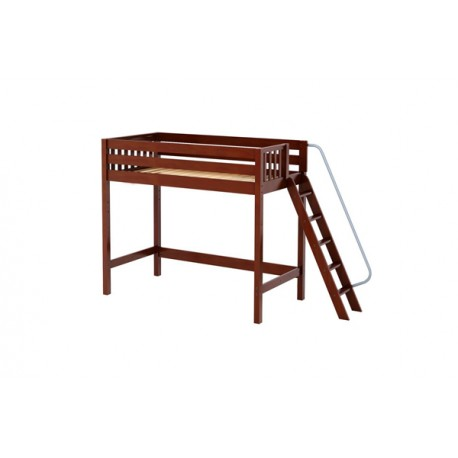 DUNK / TWIN SIZE HIGH LOFT BED WITH ANGLE LADDER