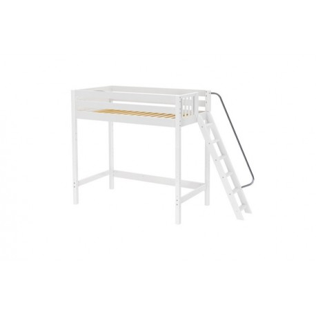 ULTRA DUNK / TWIN SIZE ULTRA HIGH LOFT BED WITH ANGLE LADDER